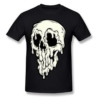 Wholesale Men S Outdoor Cotton Shirts - Halloween Horror Print T-Shirt Big Drippy Skull Men's Style Top 100% Cotton New Listed Men's Outdoor Sports Tops