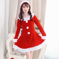 Wholesale Adult Sexy - European and American sexy long - sleeved Christmas clothing fun uniforms temptation performance costumes adult clothing