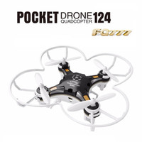 Wholesale Micro Rotor - FQ777-124 RC Drone Mini Quadcopter Micro Pocket 4CH 6Axis Gyro Switchable Controller Helicopter Kids Toys VS JJRC H37 H31