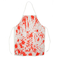 Wholesale Sleeveless Aprons - Popular Halloween Adult kids Bloody Butcher Role Play Blood Aprons Blood Apron Horror Dress Up Party Props free shipping