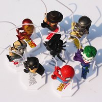 8pcs / Set Superheroes Q Version Spiderman Batman Alien Joker Predators Freddy Jason PVC Figurine Jouets Poupées 5cm