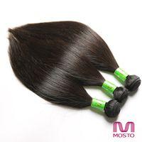 Wholesale Malaysian 3pc - 3pc Brazilian Peruvian Human Hair Weaves Bundles Straight Hair Weaves hair extensions MOSTO