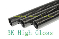 Wholesale 16mm shaft - 1-10 pcs 20MM OD x 16MM ID x 1000MM (1m) 100% 3k Carbon Fiber tube   Tubing  pipe shaft, wing tube Quadcopter arm Hexrcopter 20*16