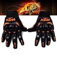 erkekler için motosiklet eldivenleri toptan satış-Sıcak satış KTM Motosiklet eldiven Moto yarış eldiven erkek Motokros tam parmak eldiven M / L / XL / XXL