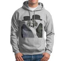 Wholesale New Design Sweater For Men - Men's Hoodies & Sweatshirts Cotton Fabric with Round Collar New Design Hooded Sweaters for Men with Black  Grey White