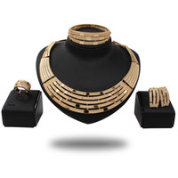 Wholesale coral drop earrings - Zeal Fashion Wedding jewelry set gold-color women Round Pendant Necklace Earrings black dress accessories Drop shipping