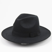 0a6c2477167 Unisex Wool Felt Hat With Ribbon Trim Stylish Jazz Hats Fedora Wide Brim  Caps Classic Solid Trilby Cap For Men And Women