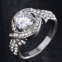 Wholesale Roma Ring - 2016 best-selling Europe and the United States to restore ancient ways cross set auger zircon han edition diamond ring exquisite luxury roma