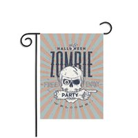 Wholesale Flag Human - Halloween Flags Banner Decorative Ornament Human Skull Pirate Printing Printed Party Decoration Decor Indoor Garden Supplies Polyester Flag