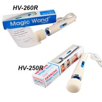 Wholesale Hitachi Wand Massager Wholesale - HV-250R HV-260R 110-240V Hitachi Magic Wand Massager AV Vibrator Massager Personal Full Body Massager US EU Plug free shipping 0602003