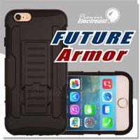 Wholesale Future Apple Iphone - Future Armor Impact Hybrid Case For iphone X 8 Note 8 Case With Belt Clip Holster Kickstand Combo Case LG G Stylo Samsung S8 Opp Package