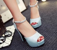 Wholesale Toe Europe Sandals - Rome, Europe and the United States sexy ultra high heel sandals female summer fish mouth shoes with a rough new shoes