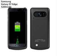 Wholesale Galaxy Battery Pack Case - Battery Charger Case for Samsung galaxy S7 Edge 5200mAh Power Case External Battery Backup Pack Charging Case Cover