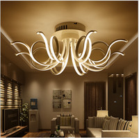 Wholesale minimalist ceiling - modern minimalist led Ceiling Light Acrylic chandeliers for living room bedroom lamparas de techo AC85-265V flush mount ceiling lights