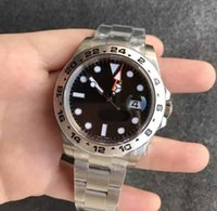 Wholesale match steel - Mens 216570 GMT 42mm Noob V7 Best Newest Edition Black Dial Asian movement match the Cal.3187 42mm movement Wristwatches
