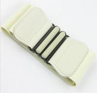 Wholesale Press Belt - Korea style super wide press buckle cummerbunds for women,fashion all match imitation leather designer brand belt