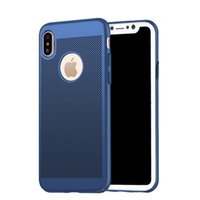 Wholesale Hard Shell Cooler - Luxury Heat Dissipation Cooling Housing Hard PC Mesh Shell For iPhone X 8 7 6  Plus Back Cover Honeycomb Phone Case