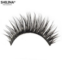 Wholesale Shilina Eyelashes - Wholesale-SHILINA 2046 Natural False Eyelashes Black Fake Eyelashes 1 Pair False Eyelashes Long Eyelash Eye Lashes Extension Band Makeup