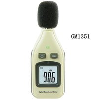 Wholesale Mini Digital Sound Level Meter - Retail Package GM1351 30-130dB Digital Sound level Meter Mini Noise Tester in Decibels LCD Screen Brand New Free Shipping