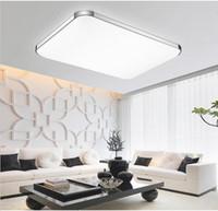 luces de techo de color naranja moderno al por mayor-Luces de techo llevadas modernas calientes montadas en la superficie para la cocina lámpara de techo llevada moderna casera del dormitorio de los niños lustres de teto