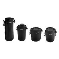 deri dslr fotoğraf makinesi kayışı toptan satış-Evrensel Matin NeoprenWaterproof Yumuşak Video Kamera Lens Kılıfı Çanta Case Tam Boyut S M L XL Canon Nikon Sony Için Siyah Toptan