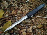 Wholesale Snake Carbon Fiber - microtech Makora II 106 snake D2 T6-6061 carton fiber handle double action folding knife collection knives Xmas gift 1pcs