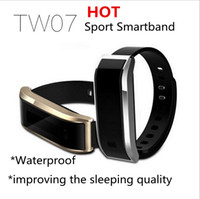 IP67 Bluetooth Smartband à prova d'água TW07 OLED Smart Bracelet Fitness Tracker Sleep Monitor Wristband para o sistema Android IOS Moblie Phone