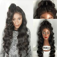 Wholesale Silk Tops For Ladies - 4x4'' Glueless Silk Top Full Lace Wigs For Black Women Brazilian Body Wave Human Hair Silk Base Front Lace Wig With Natural Hairline