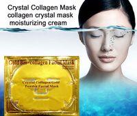 biyolojik nemlendirici kollajen maske toptan satış-Stokta Altın Bio-Kolajen Yüz Maskesi Yüz Maskesi Kristal Altın Tozu Nemlendirici Anti-aging Kollajen Yüz Maskesi Ücretsiz DHL Ücretsiz Kargo