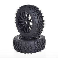 Wholesale Rc Losi Cars - 4pcs 17mm Hub Wheel Rim & Tires Tyre for 1 8 Off-Road RC Car Buggy KYOSHO HPI LOSI HSP