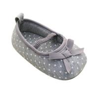 Wholesale Pre Walking Shoes - Wholesale- Girls Pre Walking Shoes Bowknot Dot Toddler Shoes Baby Flats 0-18M