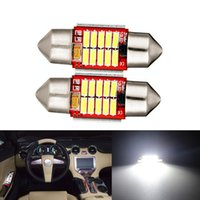 10pcs helles Weiß 31mm 10-SMD LED CANBUS Girlande-Birnen-Auto-Haube-Licht-Lampe 3021