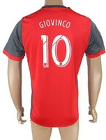 Wholesale Homes Toronto - Customized Toronto Team 17-18 Home Red #10 GIOVINCO Soccer Jerseys,personalized Club Teams Soccer Jerseys,Football Club Soccer Tops Shirt