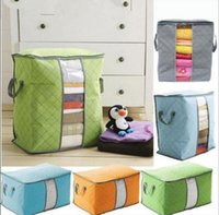 Wholesale Grey Green Bedding - Non Woven Quilt Storage Bag Foldable Clothing Blanket Pillow Underbed Bedding Organizer Box Case Home Closet Storage Bag KKA3005