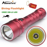 Alonefire DV19 1800Lumen 10W XML L2 Lanterna de mergulho LED 50-80M Underwater Lamp impermeável LED Tocha Flash Light Diver