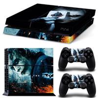 ingrosso decalcomanie in vinile di batman-Cool Joker Batman Vinyl Decal Adesivi per PS4 per Sony PlayStation 4 PS4 Console e 2 controller-