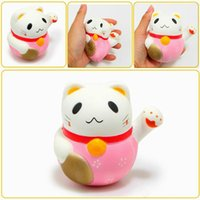 OLEEDA Hot Sales 10CM Jumbo Squishy Lucky Cat Fortune Plutus Cat Soft Slow Rising Anti-Stress Squeeze Toy With Gift Collection Decoração
