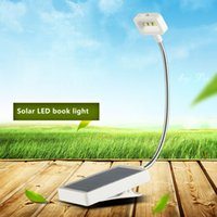 Wholesale Solar Book Lights - Solar mini book lights Clip Multi-Use 0.18W Adjustable Led Table Lamp For Music Stand And Book Reading Light