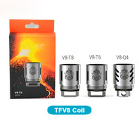 Wholesale Eletronic Cigarettes - SMOK TFV8 Coil Heads For TFV8 Atomizer Replacement TFV8 Coil V8-T8 V8-T6 V8-Q4 RBA Eletronic Cigarette Cloud TFV8 Atomizer Replacement Coils