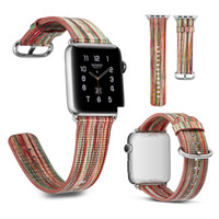 Wholesale Wholesale Leather Bag Straps - 38mm 42mm Leather Watch Band For Apple Watch band Wrist Strap Bracelet Replacement New Arrival Smart watch band with connector OPP Bag