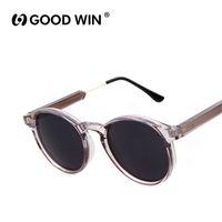 Wholesale Thick Frame Sunglasses - Wholesale-GOOD WIN Vintage Women Round Sunglasses Brand Designer Men Keyhole Thick Frame Sun Glasses Female Sunglass UV400 Gafas de sol