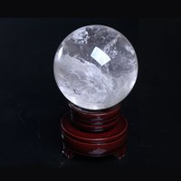 HJT 752g Atacado Natural Clear Crystal Ball Esfera Gemstone Healing Reiki Crystal balls Home Decorations free shipping + stand