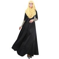 islamische kleidung jilbab abaya großhandel-10 STÜCKE Traditionelle Abaya Türkische Frauen Kleidung Muslimischen Kleid jilbab Islamischen Pailletten Kleidung Für Weibliche Kleidung Dame Muslim Langarm Kleid