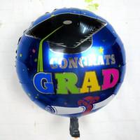 globos de graduación al por mayor-Globos de graduación de 18 pulgadas para ceremonia de graduación con decoración de fiesta de cumpleaños infantil de globos de papel de sombrero para niños
