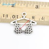 pingentes de sutiã venda por atacado-10 pçs / lote antigo de prata banhado a roupa sutiã encantos pingentes colar pulseiras para fazer jóias diy handmade craft 24x27mm