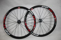 Wholesale Carbon Road Disc - Disc Hub RED FFWD 38MM full carbon road bike wheel matt glossy clincher bicyle wheels free shipping