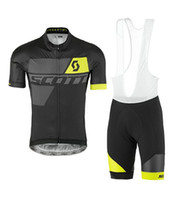 black racing suit - 2017 Men Scott Cycling jerseys set Bib Shorts Pro Team mtb kit clothes racing bike bicycle sport Wear Suit Clothing Men Summer D styles