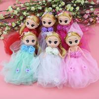 Wholesale Old Fashion Wedding Dresses - free shipping 18cm confused doll wedding dress cartoon character cloth velvet 14-year-old plush toys dolls doll pendant