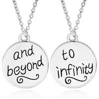 Wholesale coin necklaces online - Best Friends BFF Forever To Infinity Beyond Friendship Necklaces silver coin engraving Pendant Necklaces New Fashion Jewelry