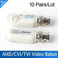 Wholesale Utp Passive Video Transmitter - 10Pairs HD 720P 1080P AHD HDCVI HDTVI BNC To UTP Cat5 5e 6 Video Balun Passive Transceivers Transmitter 200m Outdoor Waterproof
